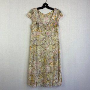 ELIE TAHARI Floral Silk Dress